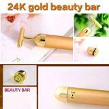 Pulso de oro de la barra 24k de la belleza para el rodillo facial de Pusle del Massager del oro del cuidado de piel