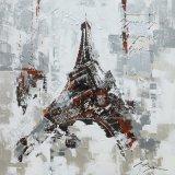 Peinture à l'huile acrylique de métier de toile avec Tour Eiffel