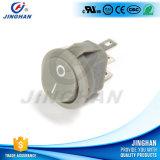 Diámetro redondo encendido-apagado 15m m del interruptor de eje de balancín de Jinghan Kcd1-204 mini