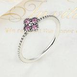 Insieme romantico dei monili dell'argento sterlina degli orecchini 925 dell'anello della CZ della radura dentellare & bianca di colore 2
