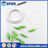 1: 8 Mini Plug-in Cassette / Lgx Box PLC Splitter Sc / APC Fibra Optical Splitter