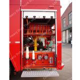 Carro de bombeiros do tanque de água do pó da espuma de Sinotruk 20t
