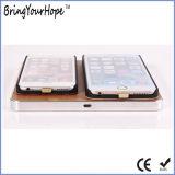 Caricatore senza fili di legno doppio per due telefoni (XH-PB-131)