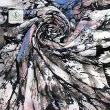 Ahornblatt-Drucken-Schal-starker Satin-Silk Form-Dame Scarf