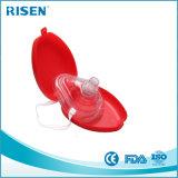 빨간 단단한 플라스틱 휴대용 케이스에 있는 고품질 CPR 가면