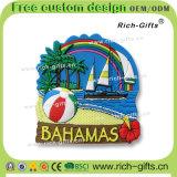 Kundenspezifischer Hauptdekoration-Silikon-Kühlraum-Magnet-Andenken-BahamasGecko (RC- BS)