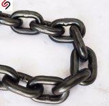 LÄRM 763 schwarzer geschweißter Stahllink Kette-Durchmesser 7mm