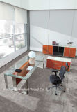 Heet verkoop het Moderne Bureau van het Glas van het Kantoormeubilair Uitvoerende (HF-SIA002)