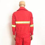 Wasserdichte Polyesterspandex-Ausdehnungs-Arbeitskleidung mit reflektierendem Band