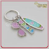 Reizendes Sun&Beach kundenspezifisches Form-Metall Keychain