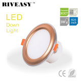 3W 2.5 luz de techo de oro del programa piloto integrado 3CCT LED de Ce&RoHS de la iluminación de la pulgada LED Downlight