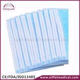mascarilla quirúrgica del polvo no tejido médico disponible 3-Ply
