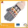 새로운 자카드 직물 뜨개질을 하는 모직 모직 털실 접촉 스크린 장갑