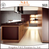 贅沢なデザイン光沢度の高い木製のベニヤのホーム家具の食器棚