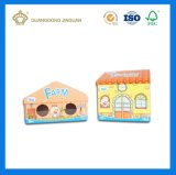 Eco 주문 서류상 마분지 크리스마스 집 모양 선물 상자 (OEM printing)