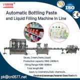 Pasta de engarrafamento automático e máquina de enchimento de líquido em linha para produtos químicos cosméticos e diários e produtos de cuidados de Persnal