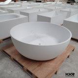 Bañera superficial sólida de baño de la tina de la resina libre de la piedra
