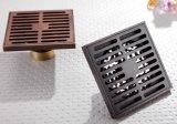 Scolo di pavimento d'ottone pieno del quadrato dell'acquazzone di alta qualità