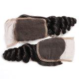 Encierro bajo de seda brasileño del pelo humano de la onda de la carrocería