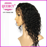 Cabelo natural Virgin Brazilian Glueless Full Lace Wigs Cabelo humano Front Lace Straight Cor natural com cabelo de bebê (HW-044)