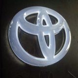 logotipo iluminado logotipo do carro do diodo emissor de luz do carro 3D