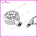 Bijou d'incinération pour les pendants ronds de cendres avec les cristaux Ijd9657