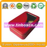Caixa retangular para a promoção, caixa de empacotamento do estanho do presente do metal do Tinplate