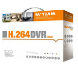 H. 264 4CH 1080P 5 em 1 fiscalização híbrida DVR do tipo de Mvteam (6404H80P)