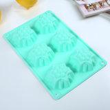 Торт Bakeware силикона/лист 6cav мыла. Синь прессформы торта чашки силикона качества еды