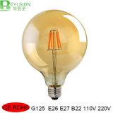 2W 4W 6W 8W 호박색 덮개 LED 필라멘트 전구 램프