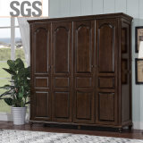 Antique Design Bedroom Furniture Armoire en bois (GSP9-019)