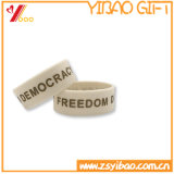 Bracelete feito sob encomenda do silicone do logotipo para Promontion