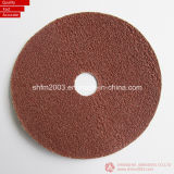 "4 "", disque abrasif rond de fibre d'oxyde d'aluminium du trou 4.5 "", 5 "", 6 "" 7 """