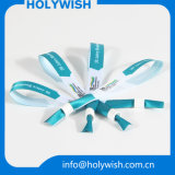 Wristbands plásticos do fechamento de Silider da tela elevada de Quanlity para vendas
