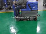 電池を持つ床のスクラバーの電気倉庫の乗車