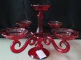 Крася красный стеклянный держатель для свечи с плакатом 5