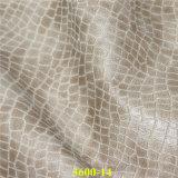 Patrón del cocodrilo del cuero de la PU del medio ambiente Material de muebles Sofá Cover