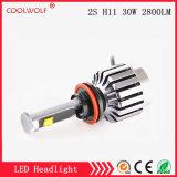 경쟁가격을%s 가진 공장 직매 2s H11 30W 2800lm LED 차 LED 헤드라이트 전구 Headlamp