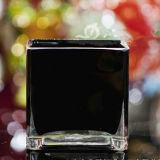 De de vierkante Houder van de Kaars van het Glas Votive/Kruik van de Kaars