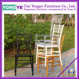 PC bianco Resin Chiavari Chair con Cushion per Wedding