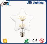 Lámpara pintada artificial manchada moderna de la lámpara E27 LED del vidrio LED de la vela del LED de los bulbos dimmable de la vela de la luz nueva
