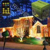 Estrela estrelado do laser que ilumina a luz de Natal ao ar livre com de controle remoto