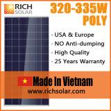 module solaire photovoltaïque de 330W 12V poly picovolte pour l'usage à la maison