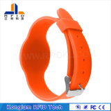 Wristband elegante de alta frecuencia del silicón de RFID para la gerencia de la prisión