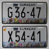 De Nummerplaat Curacao van het aluminium (JS00130)