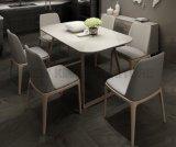 Tabella pranzante moderna di vetro Tempered per la mobilia della sala da pranzo (NK-DTB093)