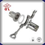 Tri abrazadera sanitaria del acero inoxidable (grado 304/316L)/abrazadera de tubo