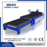 Machine de découpage de laser de fibre en métal de plate-forme de navette à vendre