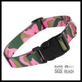 バックルが付いているピンクのカムフラージュプリント飼い犬カラー