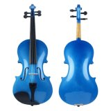 Fournisseur de certificat BV / SGS --- Chine Violon Factory Quality Starter Blue Color Contre-plaqué Violon pour étudiant